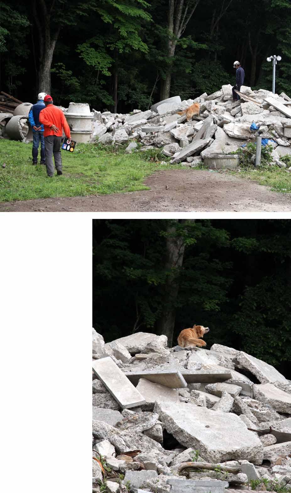 瓦礫訓練施設の中で(22)