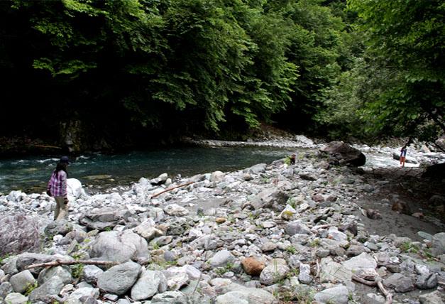 河原で捜索 0719(2)