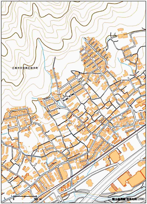 広島災害地地図(1)