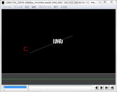 斜めクリッピングを使ったテキストモーション006-2
