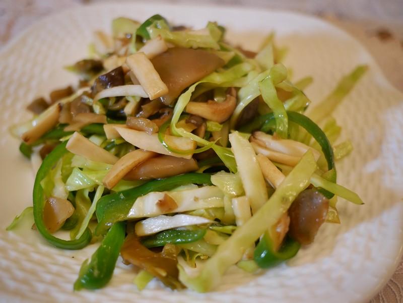 ザーサイと野菜の炒め物