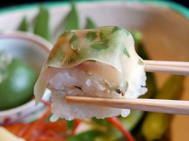 岩魚の押し寿司