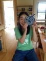 青と白の2本糸で編んだJapan blue♪