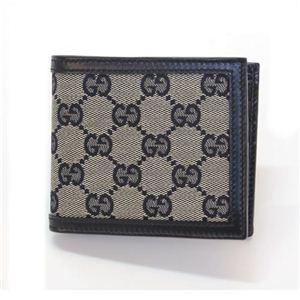 Gucci(グッチ) オリジナルGG 二つ折り財布 小銭入れ無し ベージュ/ブルー 225826 F4C7R 4075 1