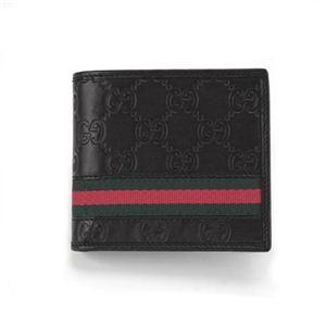 Gucci(グッチ) 二つ折り財布(小銭入れ付) 138073 NERO AOVBR 1