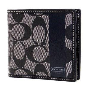 【COACH OUTLET】 コーチ 財布(二つ折り財布) メンズヘリテージ シグネチャー F74516SBWBK 1
