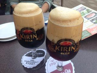 黒ビールとハーフ&ハーフ