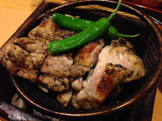 鶏の炭火焼