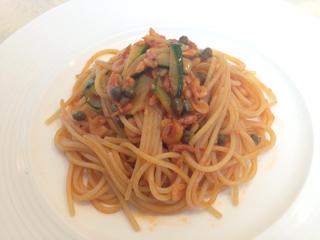 桜海老のトマトソーススパゲティ