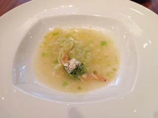 スープ(春キャベツと桜海老)