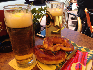 ビールとプレッツェル