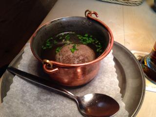 レバー団子のスープ