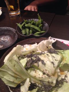 枝豆と塩昆布キャベツ
