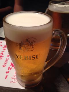 生ビール(恵比寿)