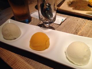 デザートアイス3種