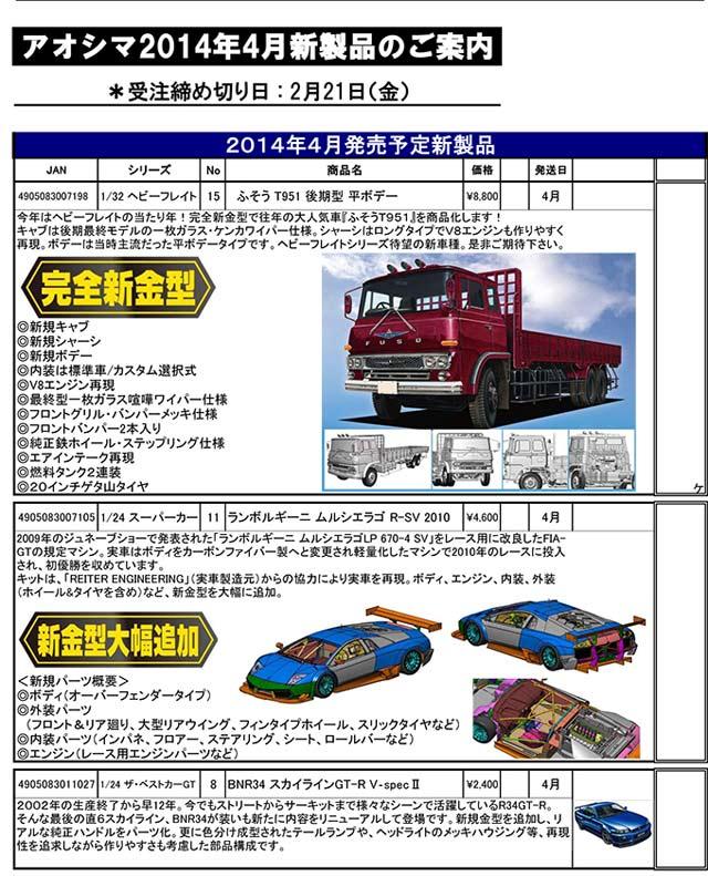 4月新製品のご案内-【アオシ