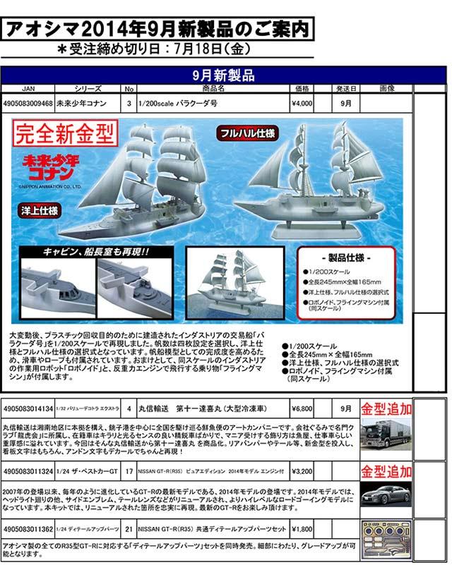 アオシマ-9月新製品のご案内