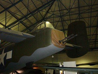 取ってつけたような尾部銃座(RAF博物館)downsize