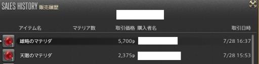 新生14 301日目 マテリア金策140728分