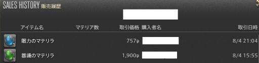 新生14 308日目 マテリア金策140804分