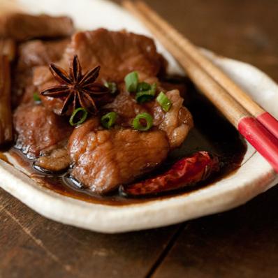 豚黒酢煮2