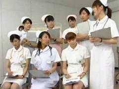 緊急勃起時の射精看護の勉強会でゴム手袋コキ&ローション手コキ実習