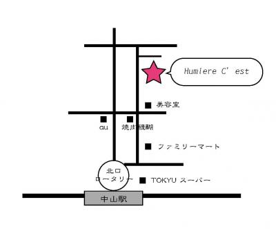 「Humiere Cest」地図