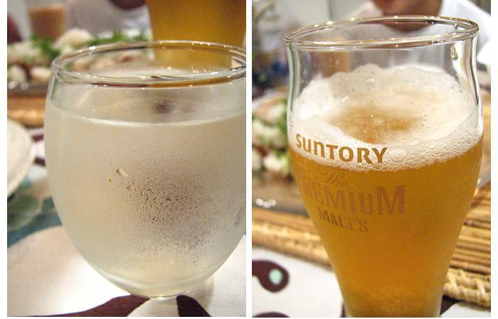 日本酒もビールも一緒に