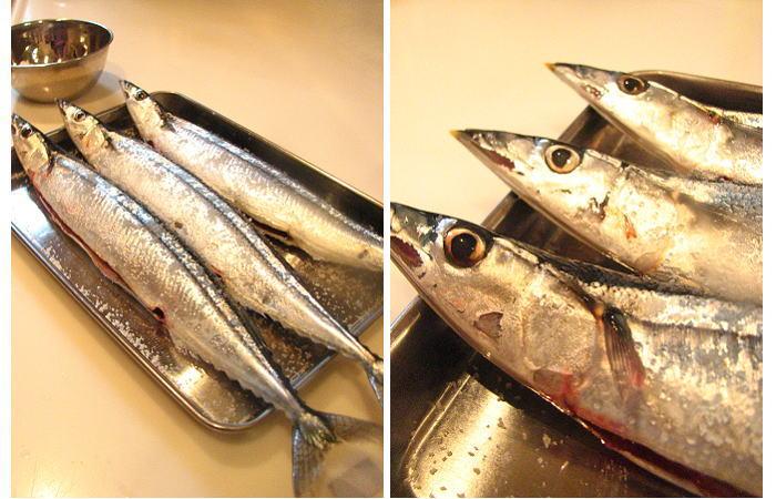 今年初めての秋刀魚