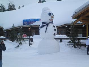 フィンランド 雪だるま