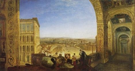 ヴァティカンから望むローマ ラ フォルリーナを伴って