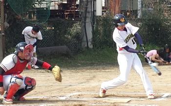 20140316_Le.visage3番森、1回表中越え先制本塁打を放つ