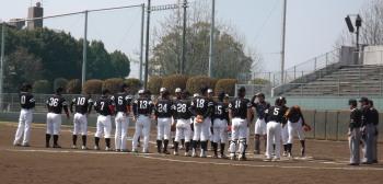 DSCF5292一塁側 県庁球友会 三塁側Big連チャンず