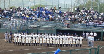 P4190079一塁側秀岳館 三塁側西日本短大付属