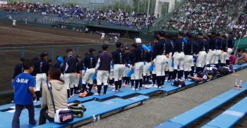P4190067西日本短大付属野球部員 100名位いたのでは