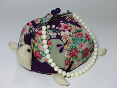 紫和柄バッグ