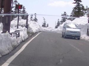 渋峠、気温6度