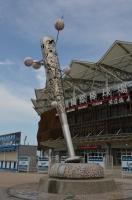 桃園國際棒球場のバットオブジェ140809