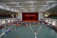 体育館で塾の運動会140824