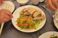 麗景餐廳の蒸し鶏とクラゲ冷製140825