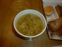 付け合わせの中華スープ140623
