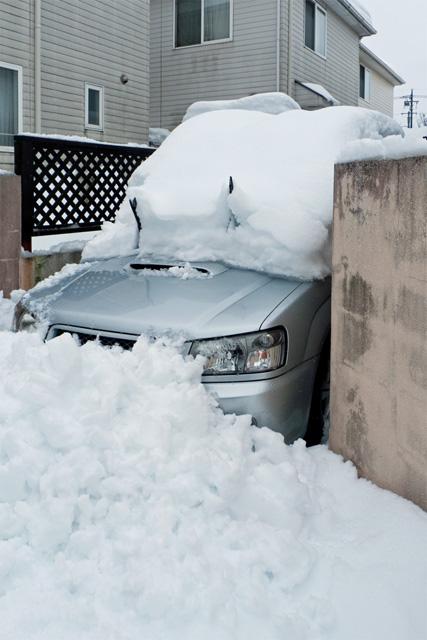 雪に埋まって動けない・・