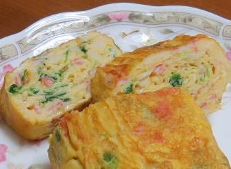 カイワレカラシナ入り卵焼き