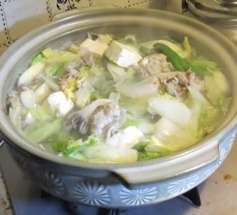 ネギ鍋料理