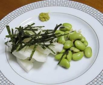 ナガイモと浸し豆