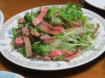 京菜とチャーシュー