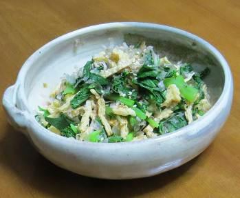 ダイコン葉料理