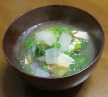 新ダイコン入り味噌汁