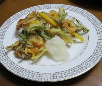 アサツキの天ぷら