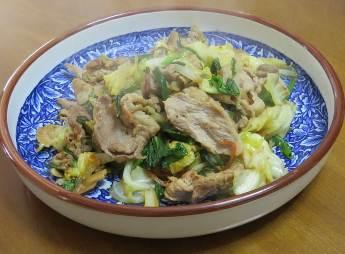 葉ネギを使った炒め料理
